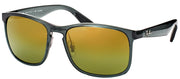 Ray-Ban RB 4264 876/6O Square Plastic Grey Sunglasses with Gold Flash Polarized Chromance Lens