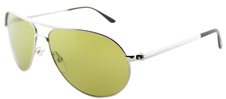 Tom Ford TF 144 18N Aviator Metal Silver Sunglasses with Green Lens