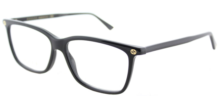 Gucci GG 0094O 006 Rectangle Plastic Black Eyeglasses with Demo Lens