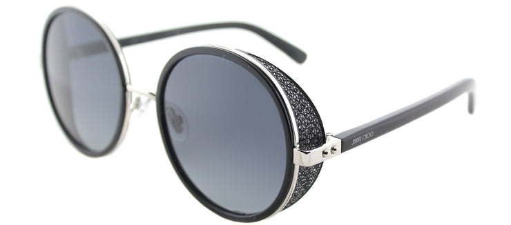 Jimmy Choo JC Andie/N B1A Round Metal Silver Sunglasses with Grey Gradient Lens