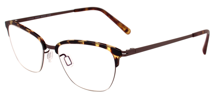 Modo MODO 4060 TORT Cat-Eye Titanium Tortoise/ Havana Eyeglasses with Demo Lens
