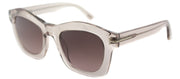 Tom Ford TF 431 74S Fashion Plastic Pink Sunglasses with Brown Gradient Lens