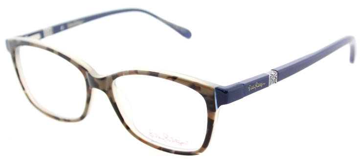 Lilly Pulitzer LP Bohdie MO Rectangle Plastic Brown Eyeglasses with Demo Lens