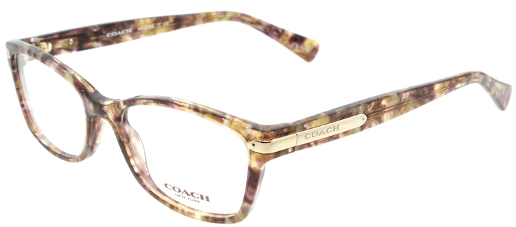 Coach HC 6065 5287 Rectangle Plastic Brown Eyeglasses with Demo Lens