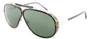 Tom Ford TF 509 52N Aviator Plastic Tortoise/ Havana Sunglasses with Green Lens