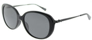 Coach HC 8215F 548287 Oval Plastic Black Sunglasses with Dark Grey Lens