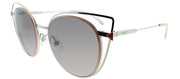Fendi FF 0176S 010 Oval Metal Ruthenium/ Gunmetal Sunglasses with Grey Gradient Lens