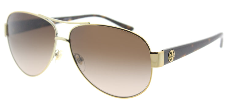 Tory Burch TY 6057 324013 Aviator Metal Gold Sunglasses with Brown Gradient Lens