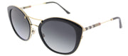 Burberry BE 4251Q 3001T3 Round Plastic Black Sunglasses with Grey Gradient, Polarized Lens