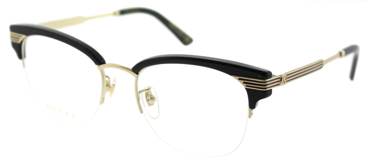 Gucci GG 0201O 001 Clubmaster Plastic Black Eyeglasses with Demo Lens