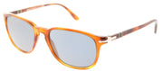 Persol PO 3019 96/56 Square Plastic Brown Sunglasses with Crystal Blue Lens