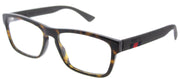 Gucci GG 0174O 006 Rectangle Plastic Tortoise/ Havana Eyeglasses with Demo Lens
