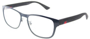 Gucci GG 0175O 003 Rectangle Metal Blue Eyeglasses with Demo Lens