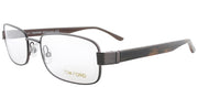 Tom Ford FT 5092 731 Rectangle Metal Brown Eyeglasses with Demo Lens