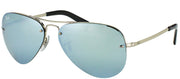 Ray-Ban RB 3449 003/30 Aviator Metal Silver Sunglasses with Silver Mirror Lens