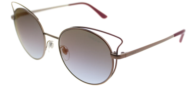 Vogue VO 4048S 5075H7 Cat-Eye Metal Pink Sunglasses with Pink Gradient Mirror Lens