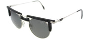 Cazal Cazal 745 003SG Round Plastic Black Sunglasses with Grey Lens