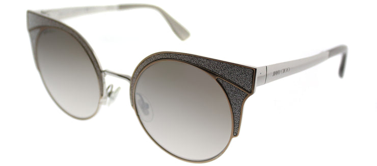 Jimmy Choo JC Ora 1KL Fashion Metal Beige Sunglasses with Gold Mirror Lens