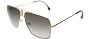 Carrera CA Carrera1006 2M2 Square Metal Black Sunglasses with Brown Gradient Lens