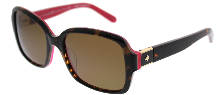 Kate Spade KS Annora/P S0U Rectangle Plastic Tortoise/ Havana Sunglasses with Brown Polarized Lens