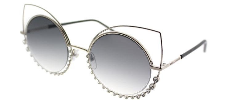 Marc Jacobs Marc 16 EEI Cat-Eye Metal Gold Sunglasses with Silver Mirror Lens