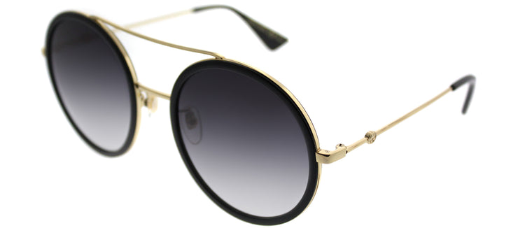 Gucci GG 0061S 001 Round Metal Black Sunglasses with Grey Gradient Lens