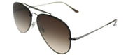 Ray-Ban RB 3584N 004/13 Aviator Metal Ruthenium/ Gunmetal Sunglasses with Brown Gradient Lens