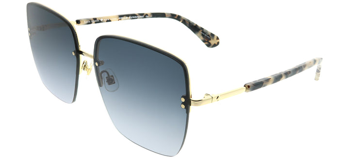 Kate Spade KS Janay AHF 9O Square Metal Gold Sunglasses with Dark Grey Gradient Lens
