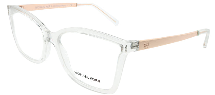 Michael Kors MK 4058 3050 Rectangle Plastic Clear Eyeglasses with Demo Lens