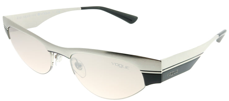 Vogue Eyewear VO 4105S 323/8Z Cat-Eye Metal Silver Sunglasses with Silver Gradient Mirror Lens