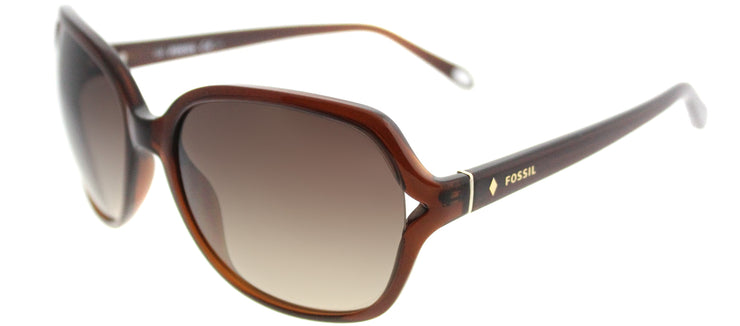 Fossil FO 3020/S XL7 B1 Fashion Plastic Brown Sunglasses with Brown Gradient Lens