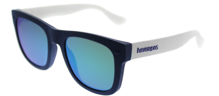 Havaianas HA Paraty/M Square Plastic Blue Sunglasses with Green Mirror Lens