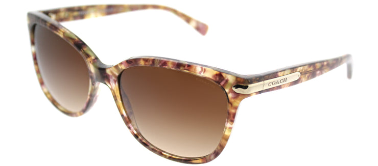 Coach HC 8132 528713 Cat-Eye Plastic Brown Sunglasses with Brown Gradient Lens