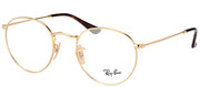 Ray-Ban RX 3447V 2500 Round Metal Gold Eyeglasses with Demo Lens