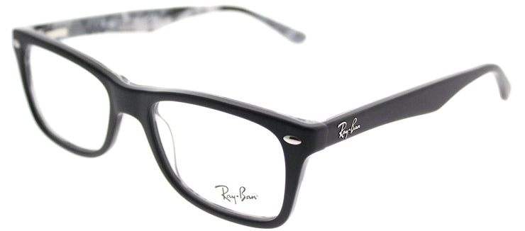 Ray-Ban RX 5228 5405 Rectangle Plastic Black Eyeglasses with Demo Lens