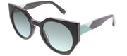 Fendi FF 0151 PJP Cat-Eye Plastic Blue Sunglasses with Blue Gradient Lens