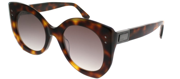 Fendi FF 0265 086 Butterfly Plastic Tortoise/ Havana Sunglasses with Brown Gradient Lens