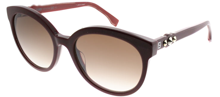 Fendi FF 0268 LHF 8G Cat-Eye Plastic Burgundy/ Red Sunglasses with Brown Gradient Lens