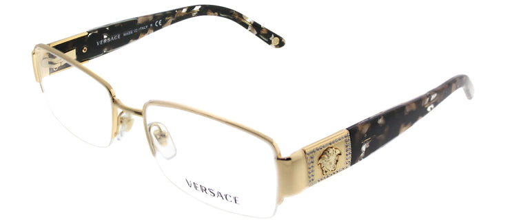 Versace VE 1175B 1002 Rectangle Metal Gold Eyeglasses with Demo Lens