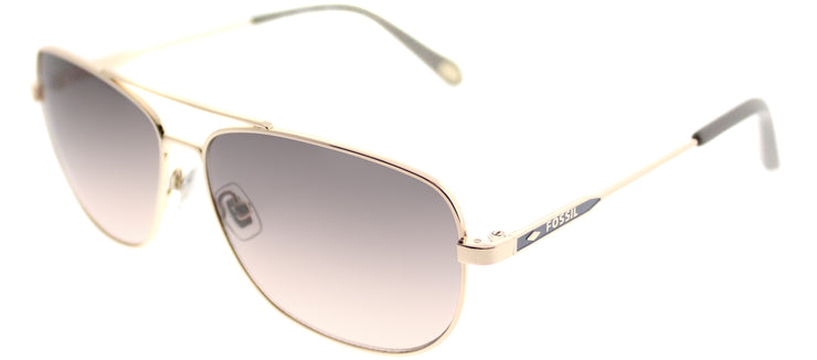 Fossil FO 3058/S AU2 WC Aviator Metal Gold Sunglasses with Brown Gradient Lens