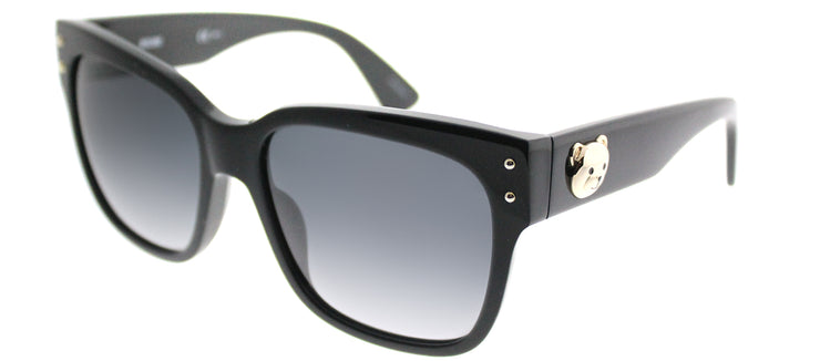 Moschino MOS 008/S 807 9O Square Plastic Black Sunglasses with Grey Gradient Lens