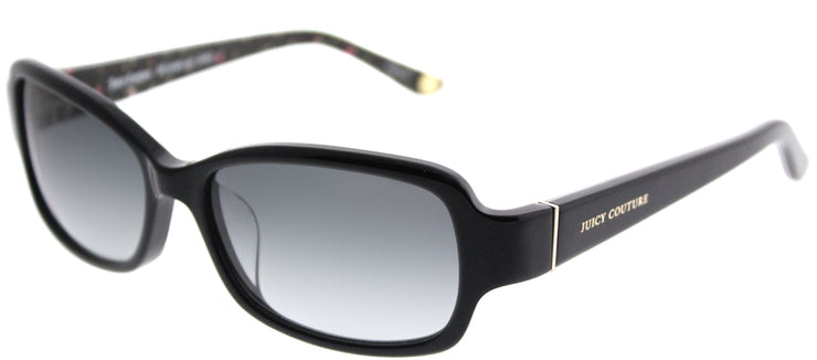 Juicy Couture JU 555/F 807 Y7 Rectangle Plastic Black Sunglasses with Grey Gradient Lens