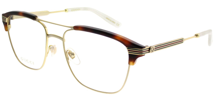 Gucci GG 0241O 001 Rectangle Plastic Gold Eyeglasses with Demo Lens
