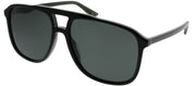 Gucci GG 0262S 001 Aviator Plastic Black Sunglasses with Grey Lens