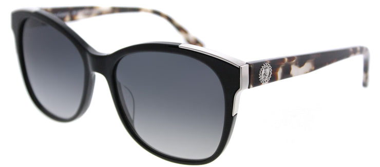 Juicy Couture JU 593 807 9O Square Plastic Black Sunglasses with Dark Grey Gradient Lens