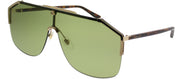 Gucci GG 0291S 004 Aviator Metal Gold Sunglasses with Green Lens