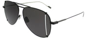 Saint Laurent SL 193TCut 002 Aviator Metal Black Sunglasses with Grey Lens