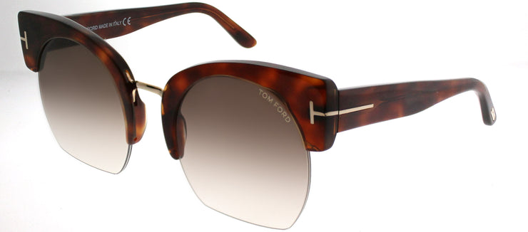Tom Ford TF 552 53F Cat-Eye Plastic Tortoise/ Havana Sunglasses with Brown Gradient Lens
