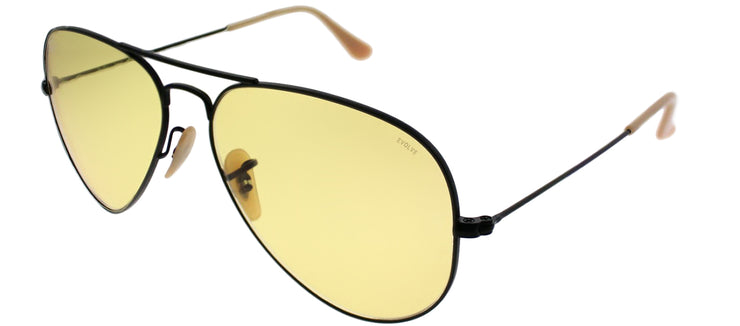 Ray-Ban RB 3025 90664A Aviator Metal Black Sunglasses with Yellow Photochromic Evolve Lens