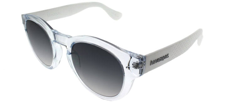 Havaianas HA Trancoso/M Round Plastic Clear Sunglasses with Grey Gradient Lens
